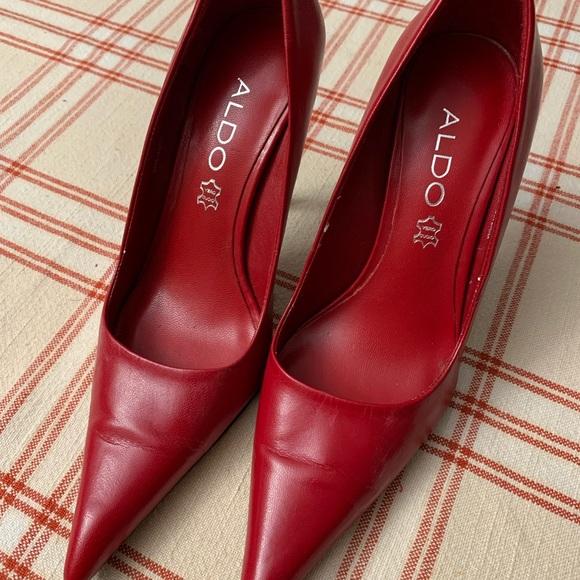 Red Aldo Pointed Heel